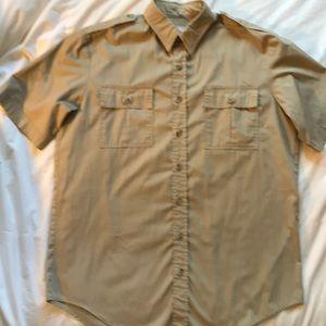 Tilley Endurables khaki bush shirt